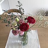 丁寧な暮らしを心掛けて❁*.゚/花/ナチュラル/花のある生活/部屋全体のインテリア実例 - 2021-03-04 11:38:40