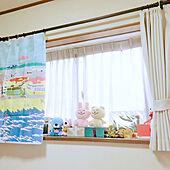 ぬいぐるみ/出窓/壁/天井のインテリア実例 - 2020-04-02 14:23:12