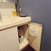 バス/トイレ/習慣/中古マンション/ゴミ箱を隠す/洗面台下...などのインテリア実例 - 2021-03-06 13:15:15