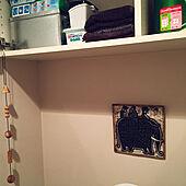 陶板画/リサラーソン/つり戸棚/無印のトタン缶/掃除用品...などのインテリア実例 - 2021-03-29 17:42:37