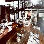 リゾート/boho industrial/BOHO/ハンモックチェア/休日の過ごし方...などのインテリア実例 - 2021-07-02 10:13:02