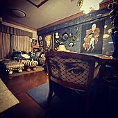 椅子張り替え/縦長の部屋/アート/アートをインテリアに取り入れたい/アートのある暮らし...などのインテリア実例 - 2021-09-20 09:18:46