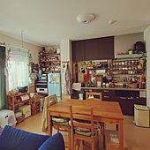 キッチン/二人暮らしと猫のいる生活/2LDK賃貸アパート/風通しの良い家/賃貸アパート...などのインテリア実例 - 2021-09-29 01:23:16