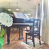 木漏れ日/グランドピアノ/庭の花を生ける/自然を感じる暮らし/季節を感じる暮らし...などのインテリア実例 - 2021-06-21 17:07:05