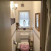 トイレのインテリア/アンティーク照明/犬と暮らす/アンティークのある暮らし/アンティーク雑貨...などのインテリア実例 - 2020-11-28 07:36:18