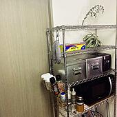 キッチン収納/メタルラック収納/コストコのラップラブ❤️/スパイスボトル/メタルラック×無印良品...などのインテリア実例 - 2020-10-23 12:44:32