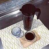麦茶専用/お気に入り/アカシアトレイ/KINTO/てぬぐいセリア...などのインテリア実例 - 2020-07-16 09:58:12