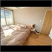 ベッドDIY/壁紙DIY/ストーン調/寝室/ナチュラルインテリア...などのインテリア実例 - 2021-01-06 22:18:07