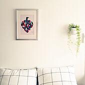 リビング/アートポスター/狭い部屋/ひとり暮らし/シンプルインテリア...などのインテリア実例 - 2021-03-08 22:45:39