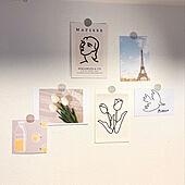 お部屋の印象を変えたいときにおすすめ!セリアアイテムで壁をディスプレイ