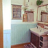 生活感にサヨナラ☆リメイクで洗面所が好きな場所に変わる