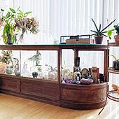 昔ながらのものに魅力を感じる☆棚を使った古道具ディスプレイ