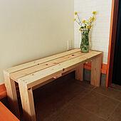 お家にあるとうれしい便利アイテム☆DIYでつくったベンチ