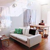 カスタマイズ自由な無印良品のソファを使ったインテリア写真
