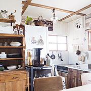 食器棚DIYのインテリア実例