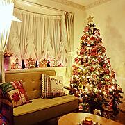 クリスマスツリーのインテリア実例