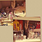 洗面台下収納のインテリア実例