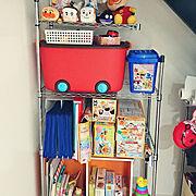 おもちゃ収納のインテリア実例