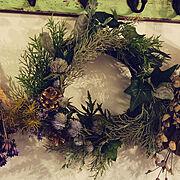 クリスマス飾りのインテリア実例