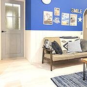 ポスターのある部屋のインテリア実例