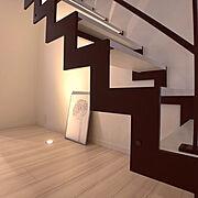 鉄骨階段のインテリア実例