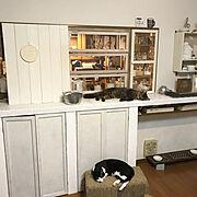 キッチンカウンターDIYのインテリア実例