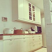 中秋の名月/綺麗な満月が見れました♪/安全対策/キッチン収納/IKEAキッチン収納/食器棚…などのインテリア実例