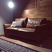 ソファ/コンテスト初参加/まったりtime/IKEAライト/Lounge…などのインテリア実例