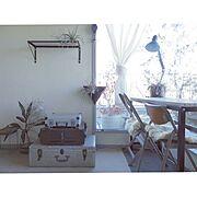私の部屋/a depeche/NO GREEN NO LIFE/机移動/フェイクグリーン…などのインテリア実例