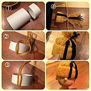 換気扇の下部/季節はずれ。/ポンポン帽子/ハンドメイド/作り方/人形用…などのインテリア実例