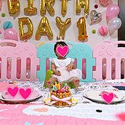 誕生日ケーキのインテリア実例写真