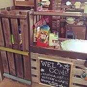 子供部屋/すのこリメイク/My Shelf…などのインテリア実例