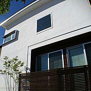 無加工無修正/真っ白の塗り壁/グリーンのある暮らし/外観/オーダーメイド/LIXIL…などのインテリア実例