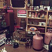 アメリカ雑貨/My Shelf…などのインテリア実例