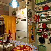 古い家/賃貸/ごちゃごちゃ/昭和レトロ/レトロ/ガラスの照明…などのインテリア実例