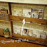 DIY/セリア/キッチンカウンター下/RoomClipStyle vol.4/salut!…などのインテリア実例