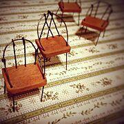 結束線/端材/ミニチュアの椅子/My Shelf…などのインテリア実例