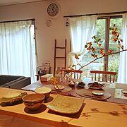 IKEA/ダイニングテーブル/ラダー/和食器/rokuro 和食器/unico…などのインテリア実例