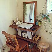 鏡DIY/DIY/珪藻土壁/グリーンのある暮らし/多肉植物/ナチュラル…などのインテリア実例