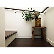 階段/ドライフラワー/スツール/フラワーベース/On Walls…などのインテリア実例
