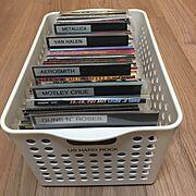 レコード収納…などのインテリア実例