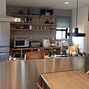 グローエ/ステンレスキッチン/凸ランプ/Kitchen…などのインテリア実例