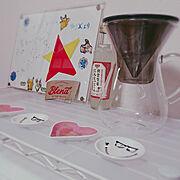 コーヒーメーカー/一人暮らし/Kitchen…などのインテリア実例