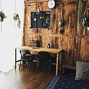 賃貸でも楽しく♪/こどもと暮らす。/愉快なせいかつ/釣り道具/植物/ミニパイプ椅子…などのインテリア実例