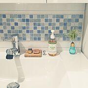 DIY-tile/D.I.Y TILE/DIY/目指すは掃除のしやすいインテリア作り/清潔感重視…などのインテリア実例