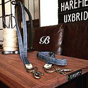 My Desk/プレゼント企画/プレ企画/ネックストラップ/ハンドメイド/gworksさんサイドテーブル…などのインテリア実例