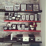 白黒/モノトーン/IKEA/セリア/100均/Lounge…などのインテリア実例