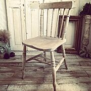 チェア/椅子/アンティーク椅子/キッチンチェア/アンティークチェア/アンティーク家具…などのインテリア実例