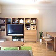 無印良品ライト/無印良品/テレビボード/テレビ周辺/テレビ/テレビ台…などのインテリア実例