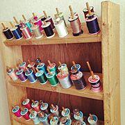 DIY/ハンドメイド/糸置き/My Shelf…などのインテリア実例